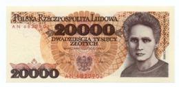 POLAND»20000 ZLOTYCH»1989»P-152A»VF CONDITION»CIRCULATED - Polonia