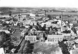 71 - MONTCHANIN Les MINES La Place Et L'Eglise ( Usines Industrie ) CPSM Dentelée N/B Grand Format 1960 - Saône Et Loire - France
