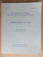Croatia Numismatic News Numizmatički Vijesti 1928 - 1988 Memory Book Magazine Brochure Croatian Numismatic Society - Tijdschriften: Abonnementen