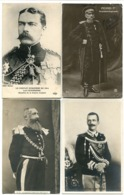 4 CP* Conflit 1914 Lord KITCHENER Ministre Anglais PIERRE 1er Roi Peuple Serbe LEOPOLD II Roi Belges EMMANUEL III Italie - Familles Royales
