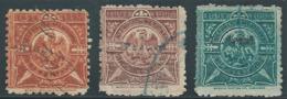 Messico Mexico 1894-1895 Republica Mexicana,3 Values Centavos,Revenue Stamp,Rare Stamps Very Old,Used - Mexico