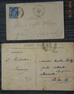 Saône Et Loire : SEMUR En BRIONNAIS : Type 19 Sur Sage , CPA Avec CàD + Boite Rurale A - Marcophilie (Lettres)