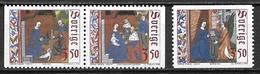 Suède 1996 1951/1953 Neufs Noël - Sweden