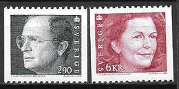 Suède 1993 N°1736/1737 Neufs Roi Et Reine - Suecia