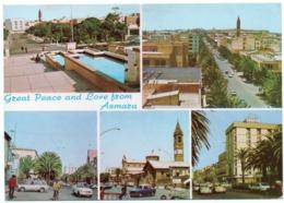 ERITREA/ETHIOPIA - GREAT PEACE AND LOVE FROM ASMARA / OLD CARS / VW KAFER/BEETLE - FIAT 1100-127 - Eritrea