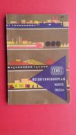 Railway.DEUTSCHE BAHN(DB).REISEFERNFAHRPLAN WINTER 1963/64 - Europe