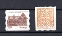 SVEZIA :  Museo Lund E Tappeto - 2 Val. MNH**  Del  3.06.1982 - Svezia