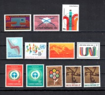 UNO New York: Jahrgang 1972 Yearset Complete Mi. 242-253, Sc.226-233, Yv. 219-226,** MNH,  ABO-Qualität!!, S. Scan - Neufs