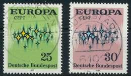 BRD 1972 Nr 716-717 Zentrisch Gestempelt X84EE32 - [7] República Federal