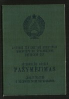 Diploma Certificate Of 8-year Education From Lithuania Ussr Soviet Occupation Peiod 1981, Klaipeda - Diplomas Y Calificaciones Escolares