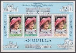 1980Anguilla392-395/B3380th Anniversary Of Queen Elizabeth 6,50 € - Anguilla (1968-...)
