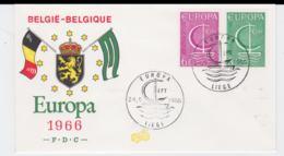 Belgium 1966 FDC Europa CEPT  (G104-45) - Europa-CEPT