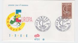 French Andorra 1966 FDC Europa CEPT  (G104-45) - Europa-CEPT