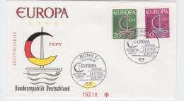 Germany 1966 FDC Europa CEPT  (G104-45) - Europa-CEPT