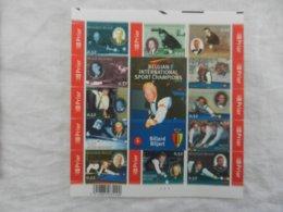 Planche De Timbres Billard Belgique - Belgian International Sport Champions Billard - 2006 - Feuillets