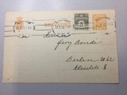 K8 Dänemark Ganzsache Stationery Entier Postal P 157II Mit Zudruck Kopenhagen Nach Berlin - Interi Postali