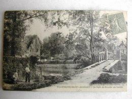 VILLENEUVE SAINT GEORGES - Le Pont Du Moulin De Senlis (animée D'un Pêcheur à La Ligne Avec Ses Enfants) - Other Municipalities