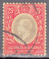 EAST AFRICA/ UGANDA     SCOTT NO 60    USED   1914 - Kenya, Uganda & Tanganyika