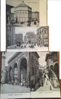 4 CPA, Firenze,édit: Alterocca / Terni, Piazza Del Duomo E Via Calzaioli,Il Battistero,Il Ponte Vecchio,Logia Dei Lanzi - Firenze (Florence)
