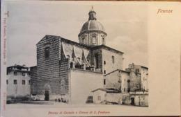 CPA, FIRENZE, Piazza Di Cestello E Chiesa Di S Frediano, édit: P.Trabert, Non écrite - Firenze (Florence)