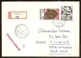 Czechoslovakia 1978 Stamps Praha78 Cancel Ice-Hockey R-cover - Checoslovaquia
