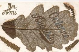 I152 - Travail Art Populaire - Feuille De Chêne Percée - Un Ami - Octave Auguste - War 1914-18