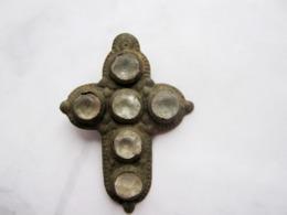 Ancient Antique Medieval Cross With Stones XVI-XVII Century AD - Archeologia