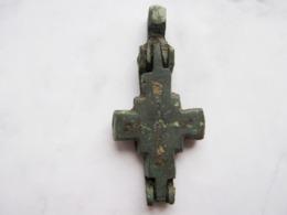 Byzantine Reliquary Cross (Encolpion) 9-12 Centuries - Archeologia