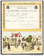 TELEGRAMME DE 1946, VUE DE VILLAGE. (4FL39) - Stamped Stationery