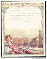 TELEGRAMME DE 1939, VUE DE BRUXELLES -  GRAND PLACE, FEMMES ET ROSES. (4FL36) - Stamped Stationery