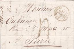 LAC De Abbeville (80) Pour Paris (75) - 23 Octobre 1841 - CAD Rond Type 14 & 15 - Taxe Manuelle 4 - 1801-1848: Vorläufer XIX