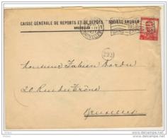 Lettre De La Caisse Gén De Reports. Timbre Perforé 1913. (603) - Perfins