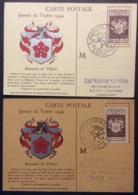 CM063(1) Journée Du Timbre Renouard 668 Laval Paris 9/12/1944 Lot 2 Carte Maximum - Maximum Cards