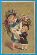 IMAGE HORLOGERIE BIJOUTERIE LOUIS LEVY ANCIENNE MAISON BLAVAT-DELEULLE REIMS / ENFANT FLEURS - Other