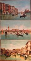 """3 Cpa, Venise / Venezia, éditore Identico """"AB"""", Panorama, Canal Grande E Chiesa Della Salute, Ponte Di Rialto - Venezia (Venice)"""