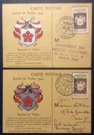 CM063(3) Journée Du Timbre Renouard 668 Paris 9/12/1944 Lot 2 Carte Maximum - Maximum Cards