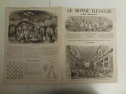 Le Monde Illustré 6 Avril 1867 524 Exposition Universelle Parlement Italien - Books, Magazines, Comics