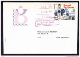 BELGIQUE COB 2528 SUR FDC, NATACHA BD, DEFRAICHI, CACHET SDS 30 ESTAFETTE FONCK LIEGE. (4JL38) - Postmark Collection