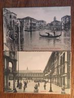 2 CPA, Venezia, Venise, éditore Identico, Canal Grande-Palazzo Browning, Piaza Dai Leoncini - Venezia (Venice)