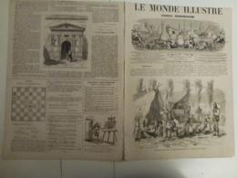 Le Monde Illustré 2 Mars 1867 516 Vatimont Moselle Emigrants Hongrois Ile De Java Inondations Seine Et Oise - Books, Magazines, Comics