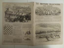 Le Monde Illustré 23 Février 1867 515  Algérie Courses De Laghouat Expédition Du Cambodge Ouragan Saint Ouen - Boeken, Tijdschriften, Stripverhalen