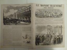 Le Monde Illustré 16 Février 1867 514 Londres Port Açores Chasse Aux Faucons Moniteur Universel Du Soir - Books, Magazines, Comics