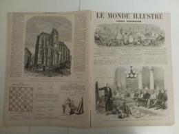 Le Monde Illustré 9 Février 1867 513 Paris Instruction Gratuite Famille Royale De Prusse Ile De Candie Insurrection - Books, Magazines, Comics