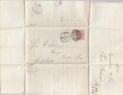 England: 1875: Manchester Nach Switzerland/Bern - Grossbritannien