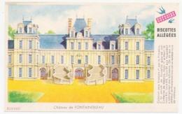 Buvard 14.9 X 9.5 Biscottes Allégées GREGOIRE Château De Fontainebleau - Biscottes