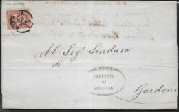 STORIA POSTALE REGNO - STAMPE SINDACI AFFRANCATA CON SERVIZIO DI STATO CENT 0,02 - 02.MAG.1876 DA BRESCIA - Dienstpost