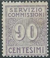 1913 REGNO SERVIZIO COMMISSIONI 90 CENT MH * - RB30-9 - 1900-44 Victor Emmanuel III