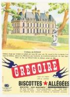 Buvard 11.9 X 16.4 Biscottes Allégées GREGOIRE Château De Sceaux Poids Net Moyen 285 Gr. Environ Sur * - Biscottes