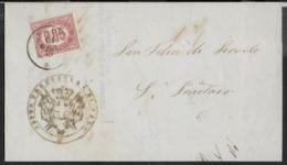 STORIA POSTALE REGNO - PIEGO AFFRANCATO CON SERVIZIO DI STATO CENT 0,05 - 11.GEN.1875 DA SALO' - Dienstpost