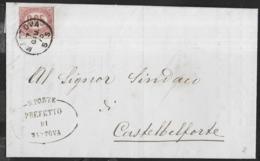 STORIA POSTALE REGNO - PIEGO AFFRANCATO CON SERVIZIO DI STATO CENT 0,05 - 07.GIU.1875 DA MANTOVA - Dienstpost